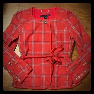 Marc by Marc Jacobs Red Plaid Jacket in Size Small